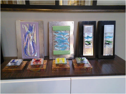 Picture Of Assorted Fused Glass Art