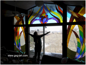 Picture Of Stained Glass Dance Of Life
