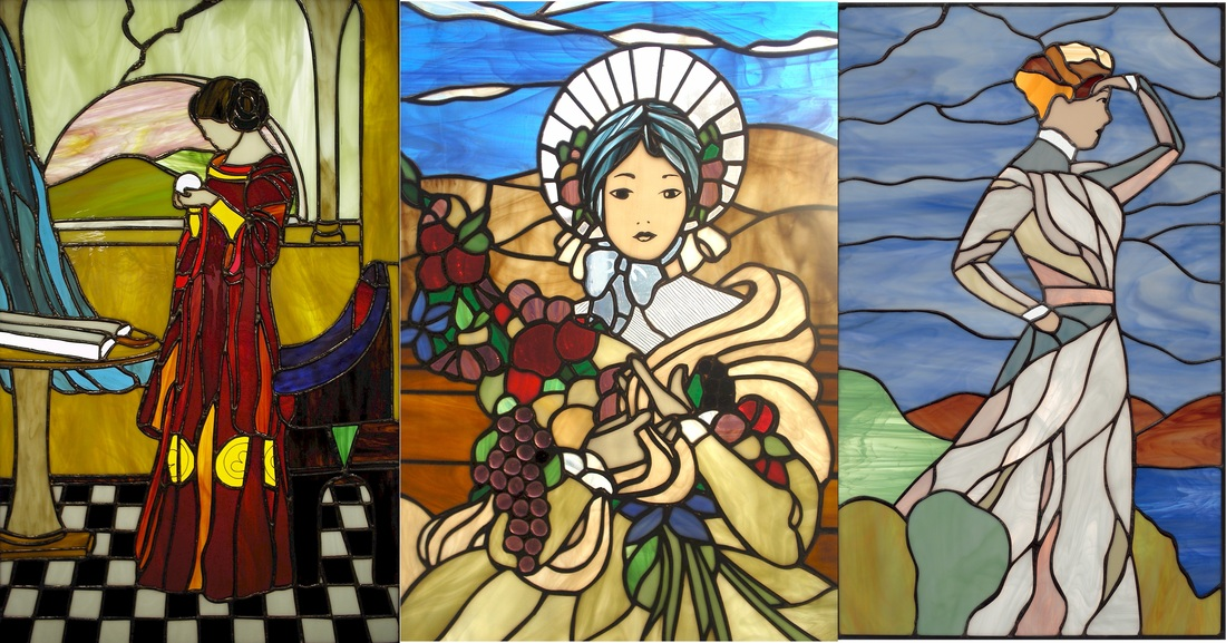 Picture Of Collectible Stained Glass Art Pieces