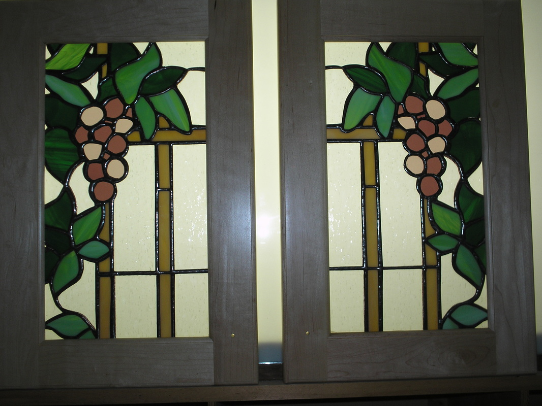 Picture of Stained Glass In Cabinet Doors