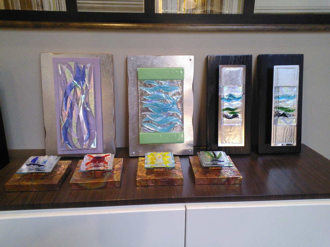 Picture of Assortment Of Fused Glass Art