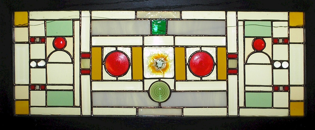 Picture of Short Circuit stained glass plate panel